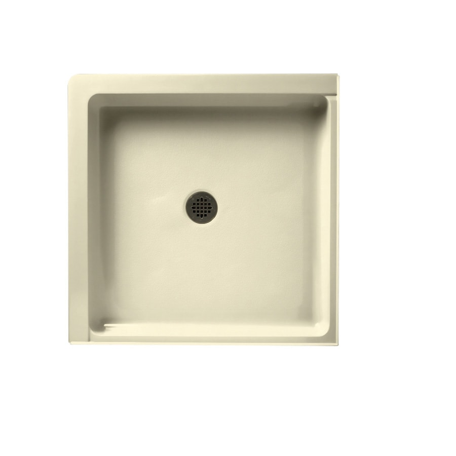 Swanstone Bone Veritek Shower Base (Common: 36-in W x 36-in L; Actual: 36-in W x 36-in L) with Center Drain