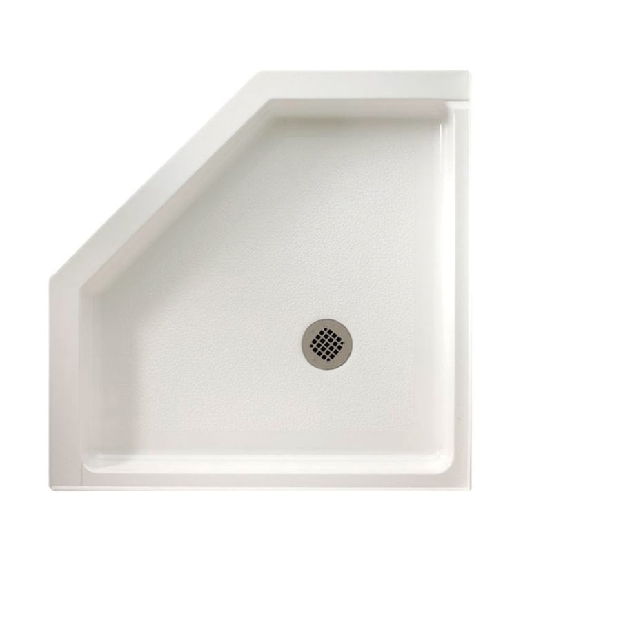 Swanstone White Fiberglass and Plastic Composite Shower Base (Common: 38-in W x 38-in L; Actual: 38-in W x 38-in L)
