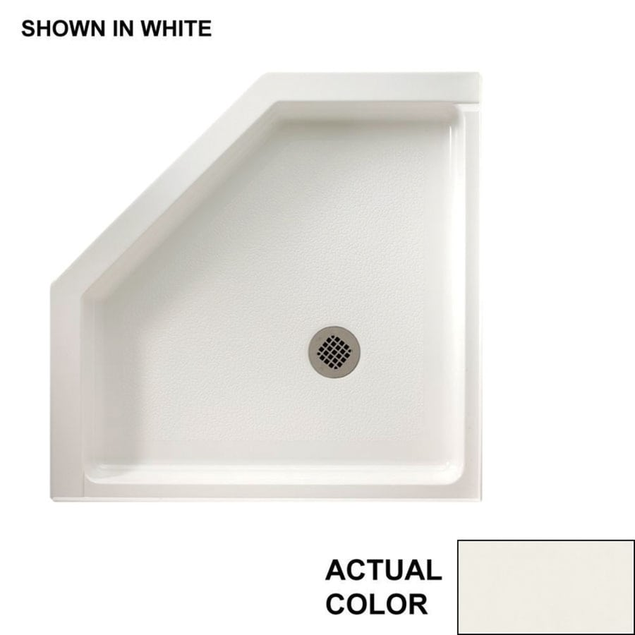 Swanstone Bisque Fiberglass and Plastic Composite Shower Base (Common: 38-in W x 38-in L; Actual: 38-in W x 38-in L)