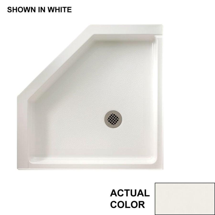 Swanstone Bisque Veritek Shower Base Common 38 In W X