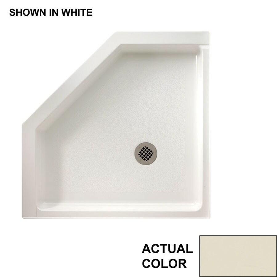 Swanstone Bone Fiberglass and Plastic Composite Shower Base (Common: 38-in W x 38-in L; Actual: 38-in W x 38-in L)