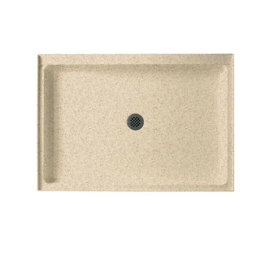 Swanstone Bermuda Sand Solid Surface Shower Base (Common: 34-in W x 48-in L; Actual: 34-in W x 48-in L)