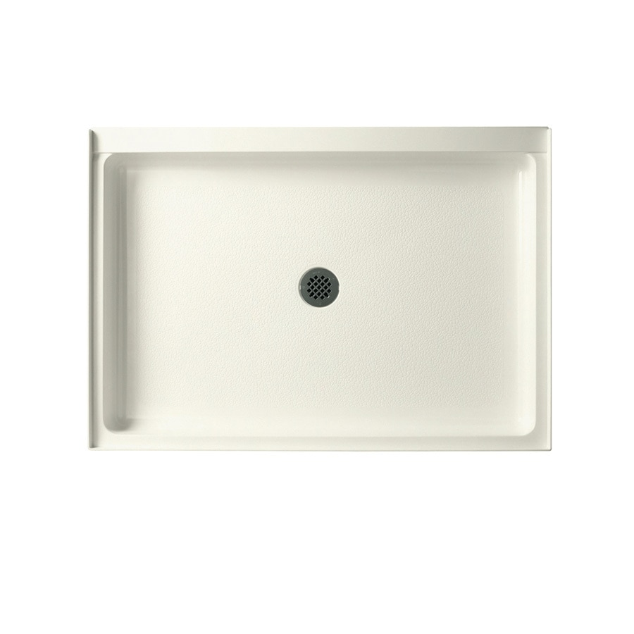 Swanstone Bisque Solid Surface Shower Base (Common: 34-in W x 48-in L; Actual: 34-in W x 48-in L)