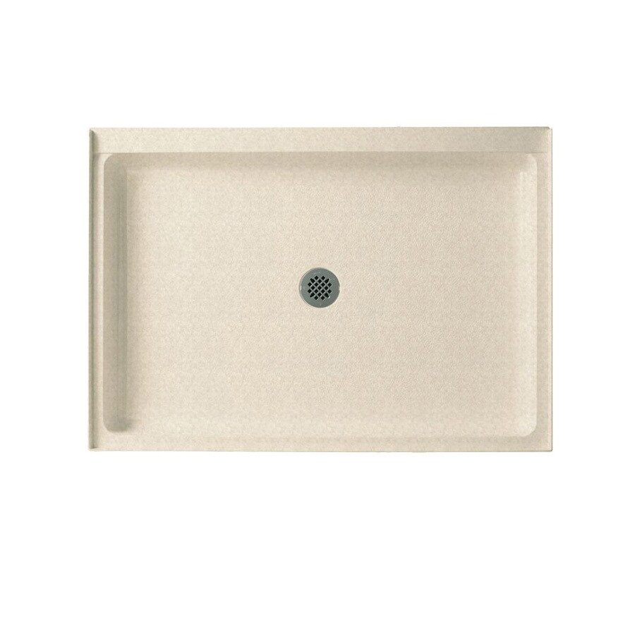 Swanstone Cornflower Solid Surface Shower Base (Common: 34-in W x 48-in L; Actual: 34-in W x 48-in L)