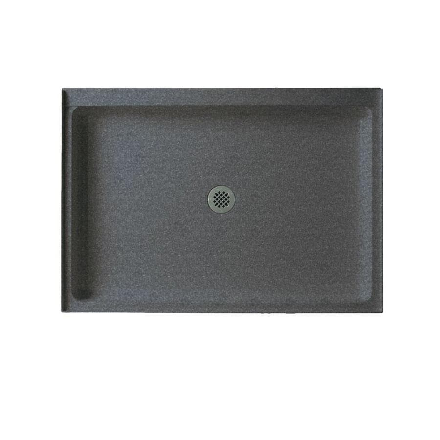 swanstone night sky solid surface shower base common 34in w x 48
