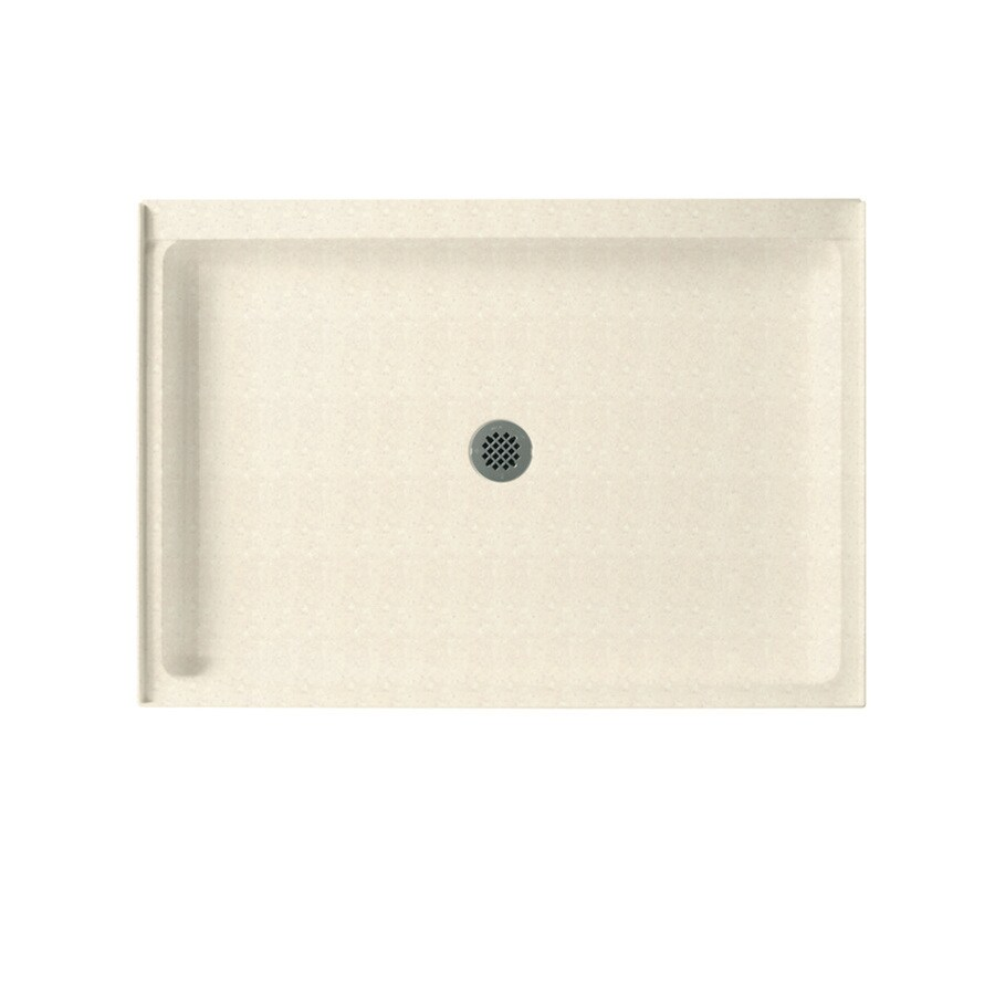 Swanstone Pebble Solid Surface Shower Base (Common: 34-in W x 48-in L; Actual: 34-in W x 48-in L) with Center Drain