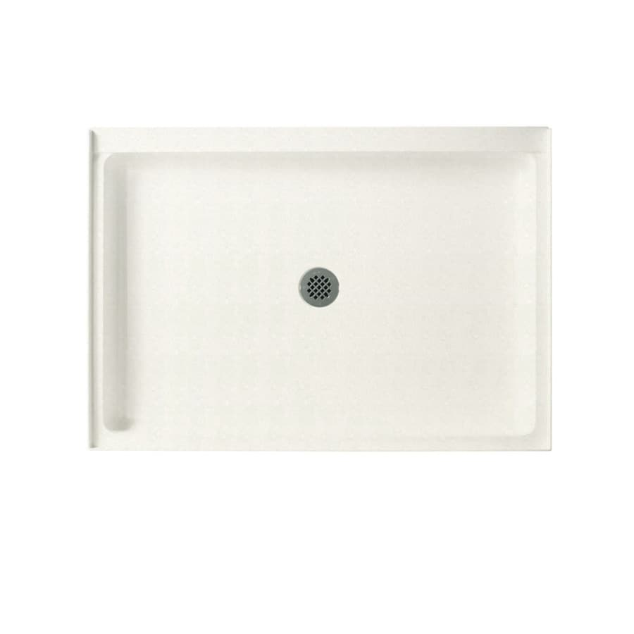 Swanstone Tahiti Ivory Solid Surface Shower Base (Common: 34-in W x 48-in L; Actual: 34-in W x 48-in L)