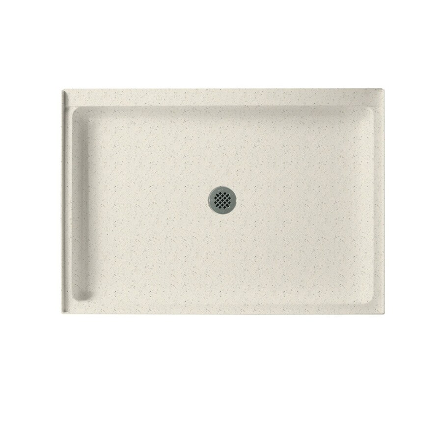 Swanstone Tahiti Matrix Solid Surface Shower Base (Common: 34-in W x 48-in L; Actual: 34-in W x 48-in L) with Center Drain