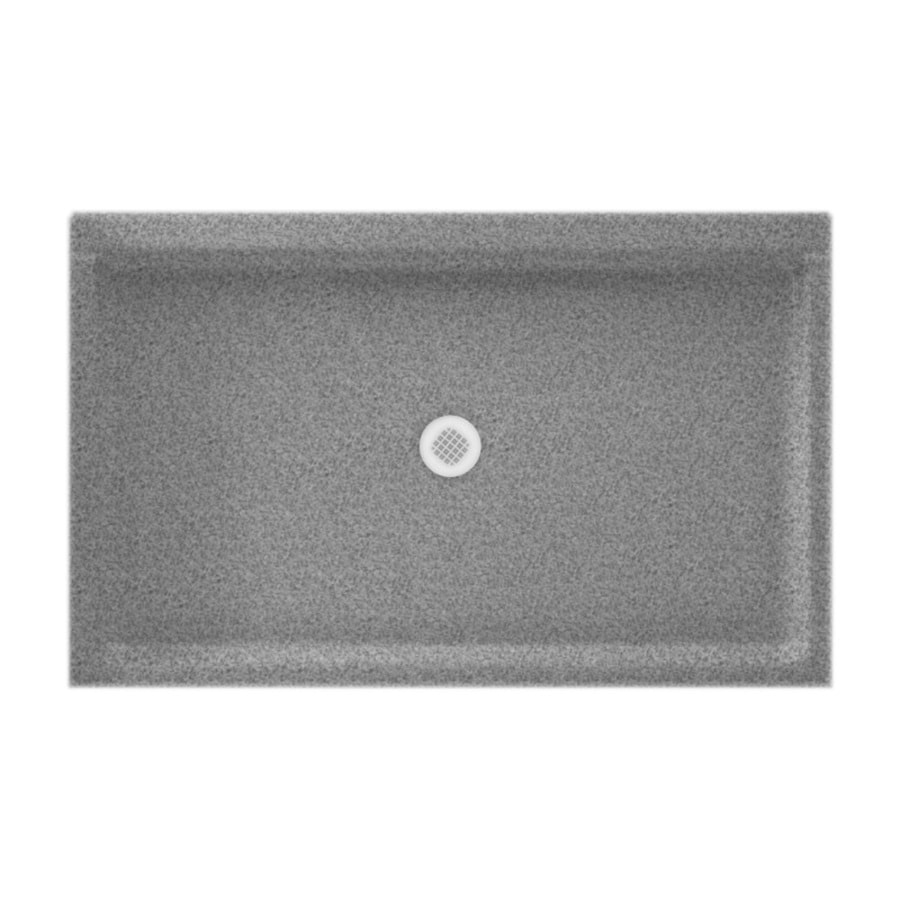 Swanstone Gray Granite Solid Surface Shower Base (Common: 34-in W x 54-in L; Actual: 34-in W x 54-in L)