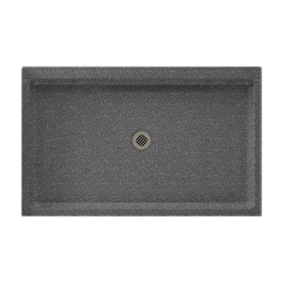 Swanstone Night Sky Solid Surface Shower Base (Common: 34-in W x 54-in L; Actual: 34-in W x 54-in L) with Center Drain