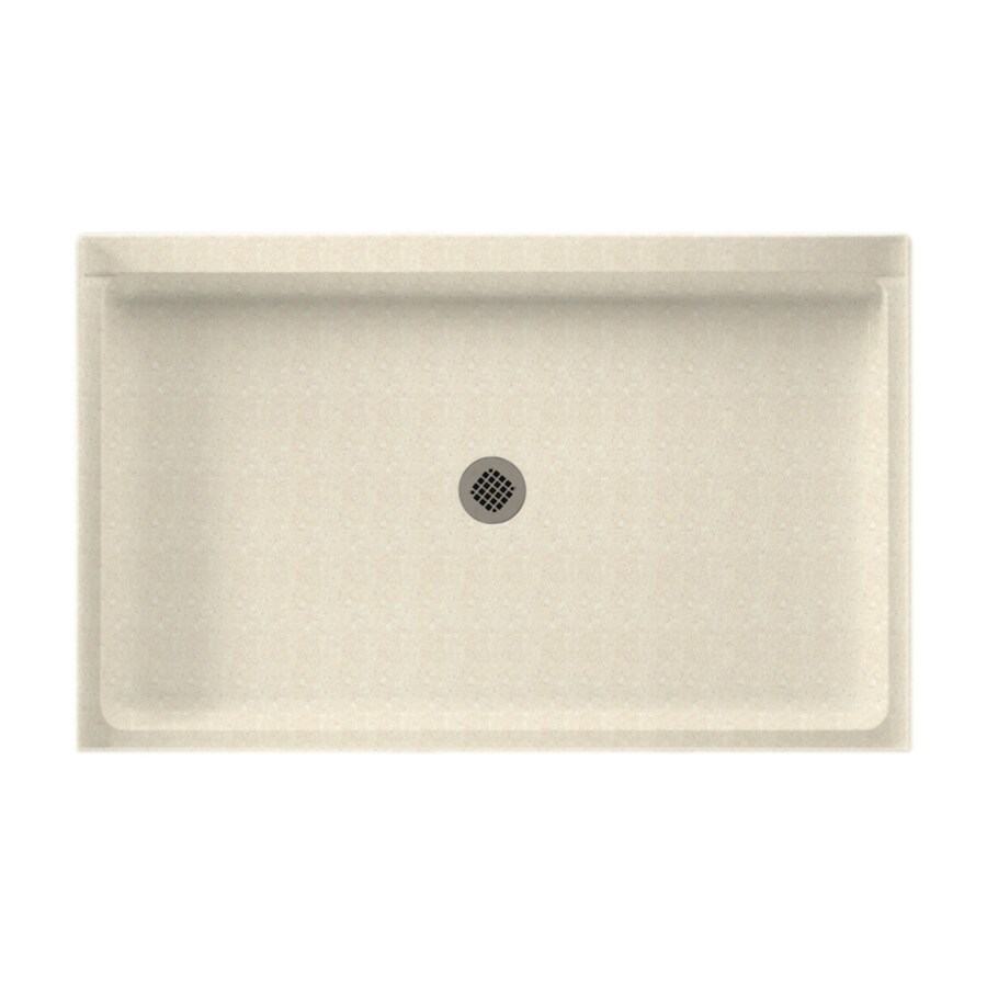 Swanstone Pebble Solid Surface Shower Base (Common: 34-in W x 54-in L; Actual: 34-in W x 54-in L)