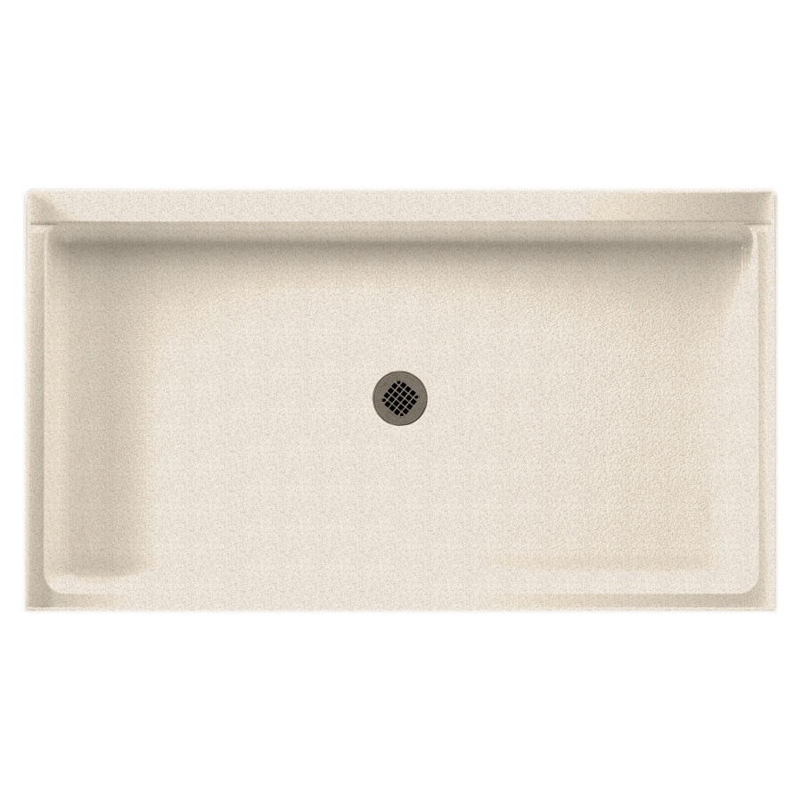 Swanstone Almond Galaxy Solid Surface Shower Base (Common: 34-in W x 60-in L; Actual: 34-in W x 60-in L)