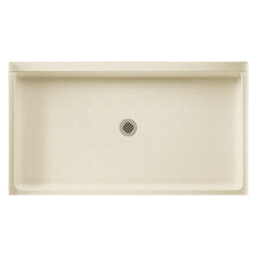 Swanstone Cornflower Solid Surface Shower Base (Common: 34-in W x 60-in L; Actual: 34-in W x 60-in L)