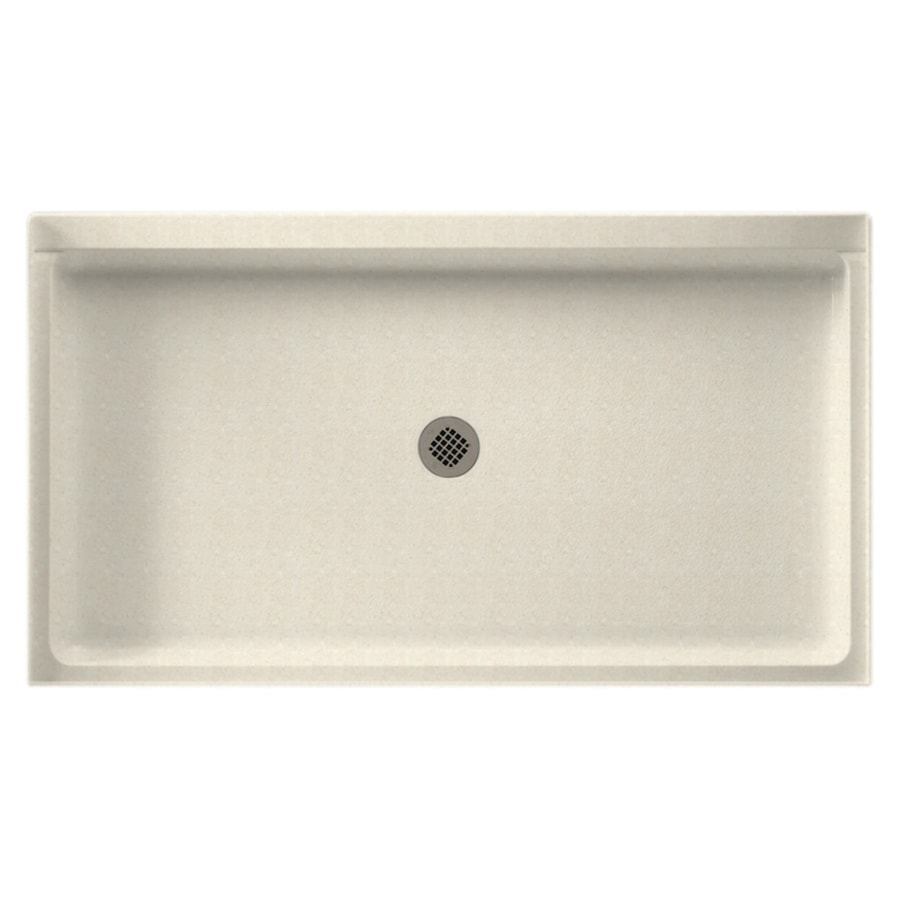 Swanstone Pebble Solid Surface Shower Base (Common: 34-in W x 60-in L; Actual: 34-in W x 60-in L)