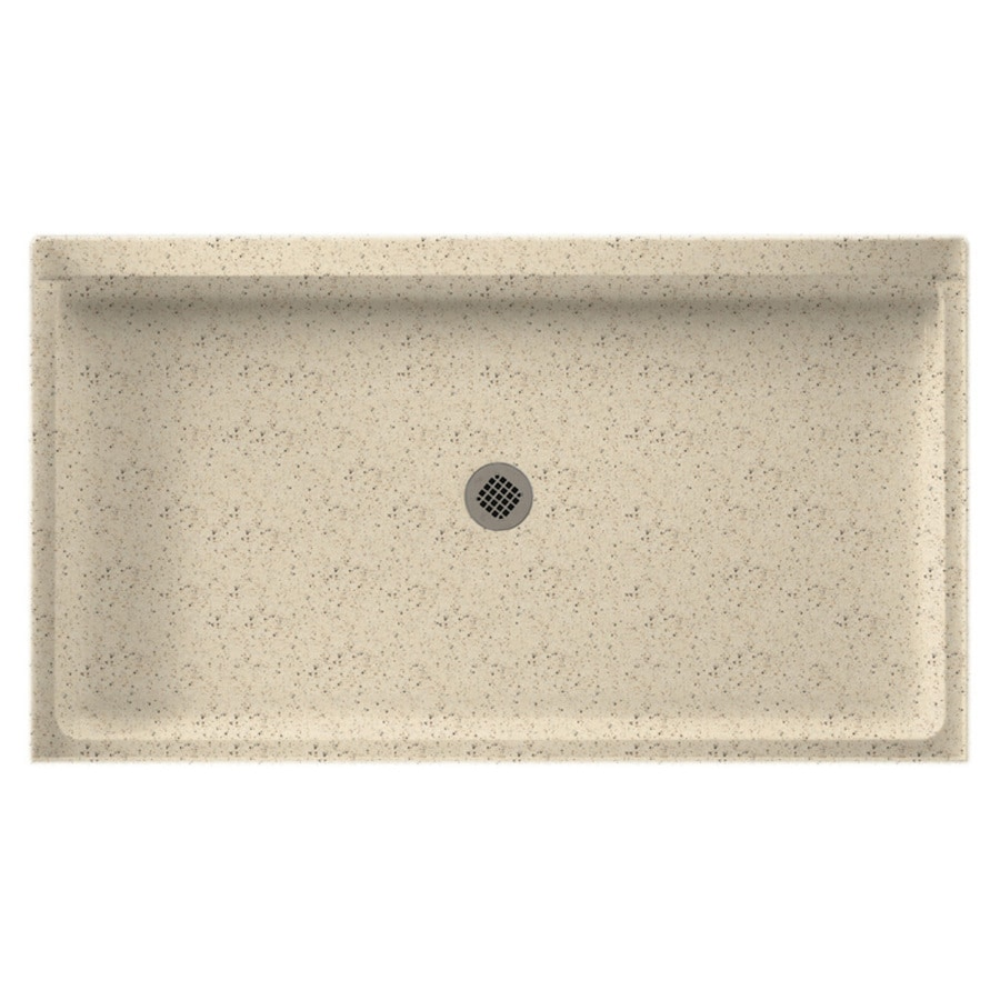 Swanstone Tahiti Desert Solid Surface Shower Base (Common: 34-in W x 60-in L; Actual: 34-in W x 60-in L)