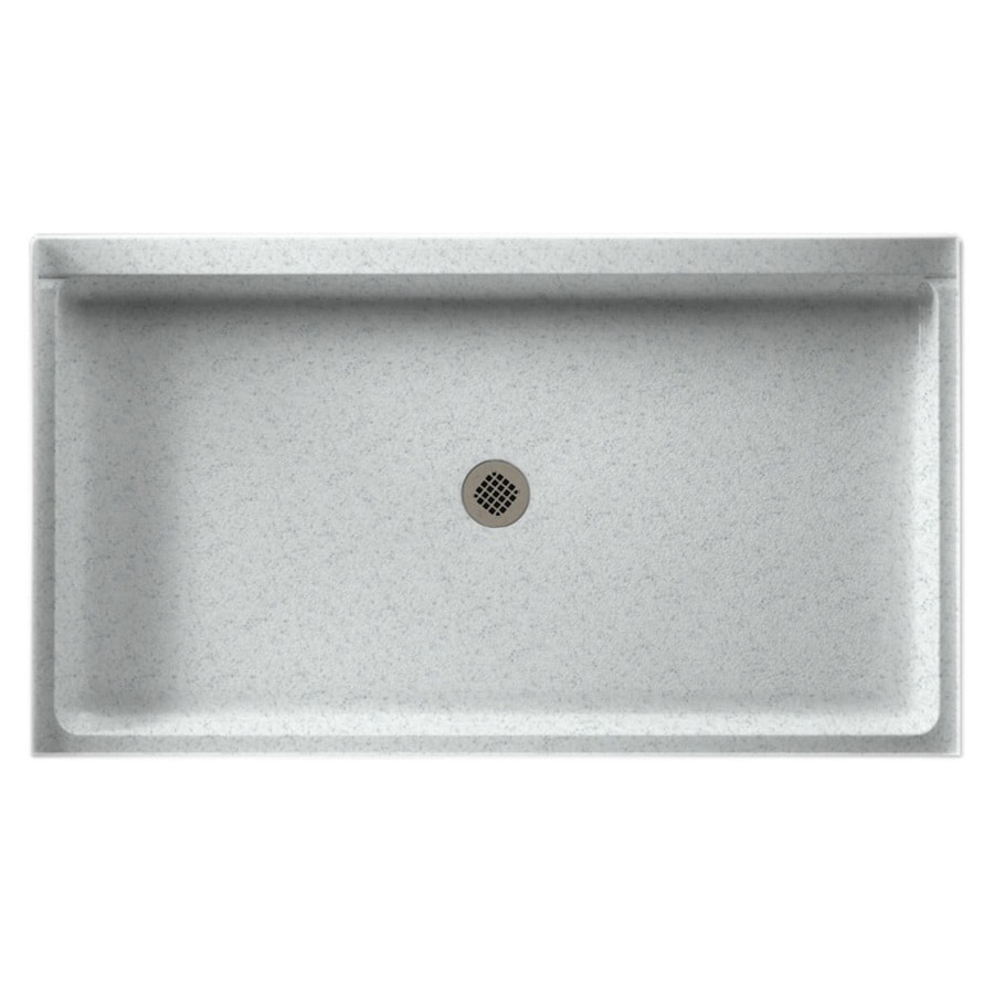 Swanstone Tahiti Gray Solid Surface Shower Base (Common: 34-in W x 60-in L; Actual: 34-in W x 60-in L)