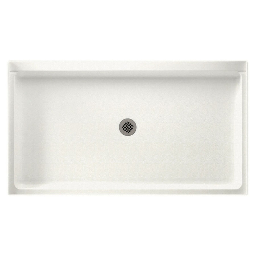 Swanstone Tahiti Ivory Solid Surface Shower Base (Common: 34-in W x 60-in L; Actual: 34-in W x 60-in L)