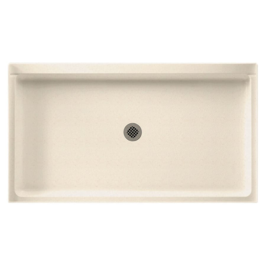 Swanstone Tahiti Sand Solid Surface Shower Base (Common: 34-in W x 60-in L; Actual: 34-in W x 60-in L)