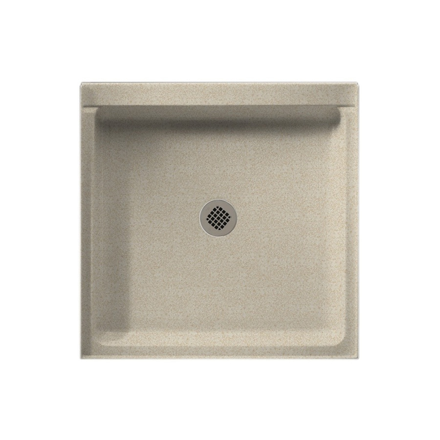 Swanstone Winter Wheat Solid Surface Shower Base (Common: 34-in W x 60-in L; Actual: 36-in W x 36-in L)