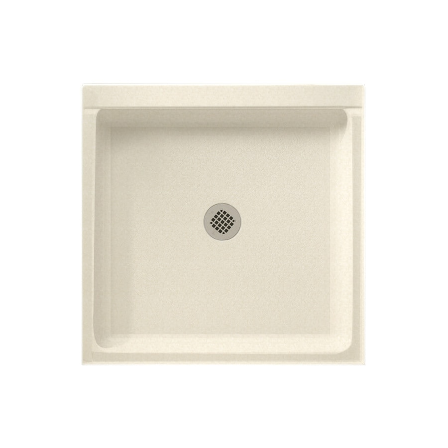 Swanstone Cornflower Solid Surface Shower Base (Common: 36-in W x 36-in L; Actual: 36-in W x 36-in L) with Center Drain