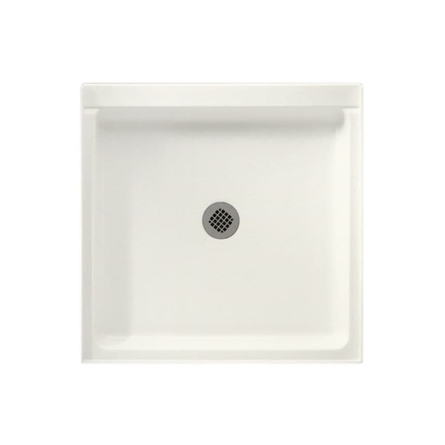Swanstone Tahiti Ivory Solid Surface Shower Base (Common: 36-in W x 36-in L; Actual: 36-in W x 36-in L)