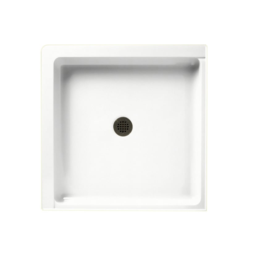 Swanstone Tahiti White Solid Surface Shower Base (Common: 36-in W x 36-in L; Actual: 36-in W x 36-in L)