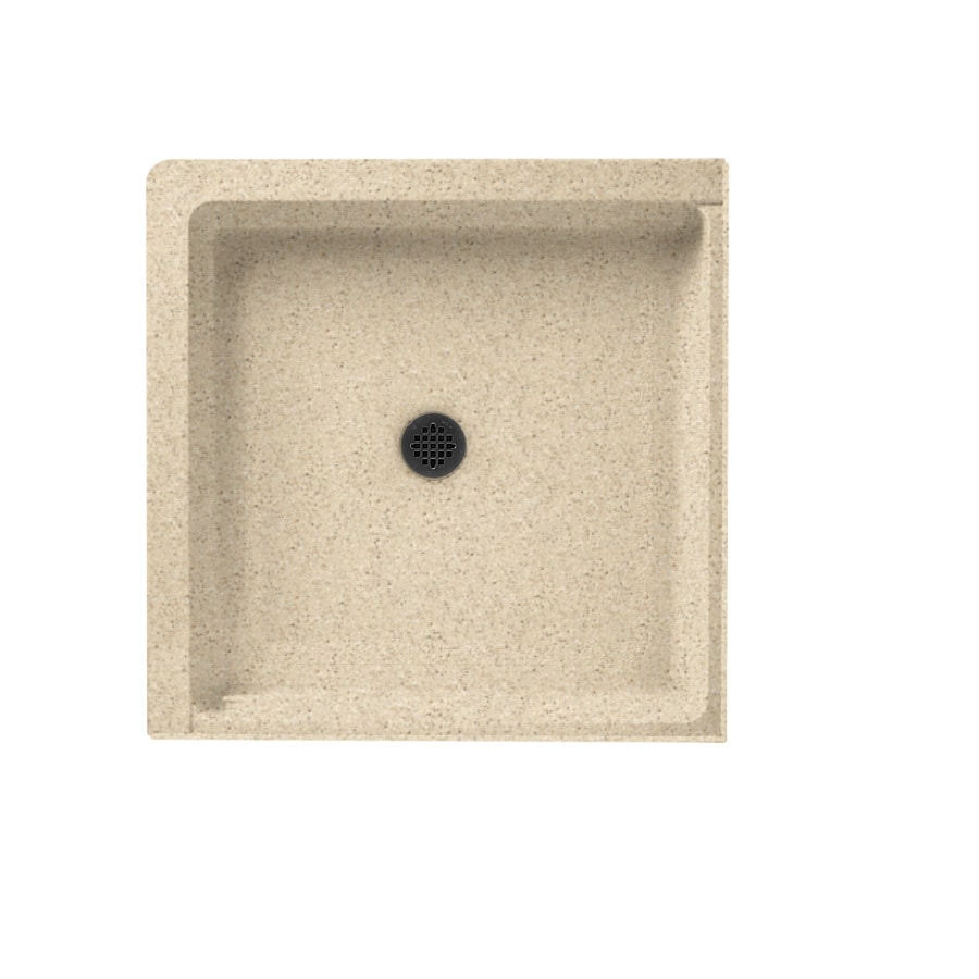 Swanstone Bermuda Sand Solid Surface Shower Base (Common: 36-in W x 36-in L; Actual: 36-in W x 36-in L)