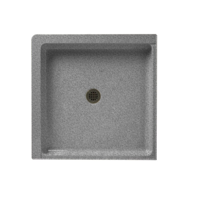 Swanstone Gray Granite Solid Surface Shower Base (Common: 36-in W x 36-in L; Actual: 36-in W x 36-in L)
