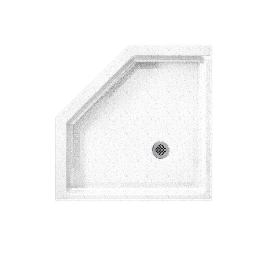 Swanstone Arctic Granite Solid Surface Shower Base (Common: 36-in W x 36-in L; Actual: 36-in W x 36-in L)