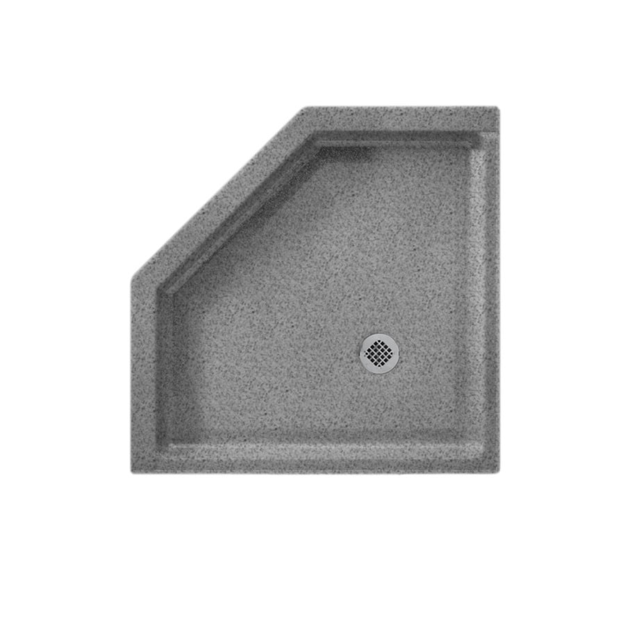 Swanstone Gray Granite Solid Surface Shower Base (Common: 38-in W x 38-in L; Actual: 38-in W x 38-in L)
