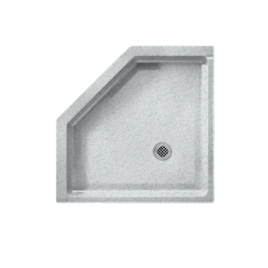 Swanstone Tahiti Gray Solid Surface Shower Base (Common: 38-in W x 38-in L; Actual: 38-in W x 38-in L)