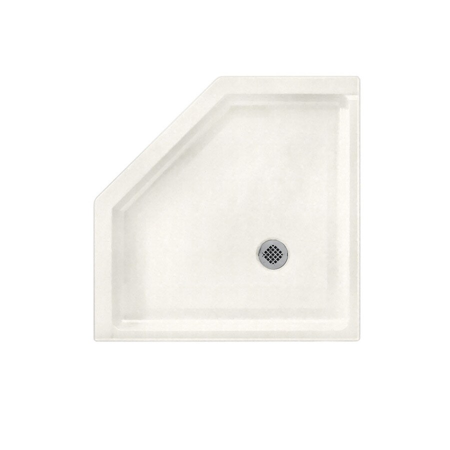 Swanstone Tahiti Ivory Solid Surface Shower Base (Common: 38-in W x 38-in L; Actual: 38-in W x 38-in L)