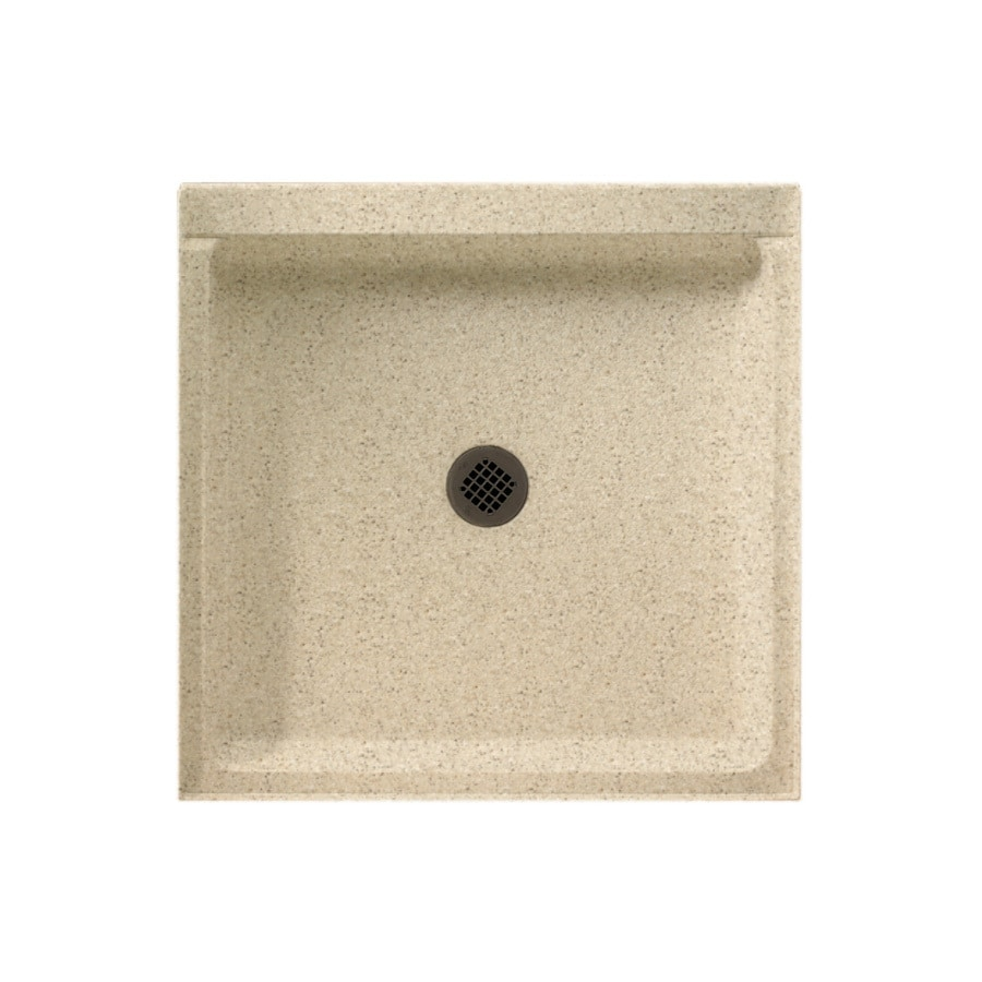 Swanstone Bermuda Sand Solid Surface Shower Base (Common: 42-in W x 36-in L; Actual: 36-in W x 42-in L)