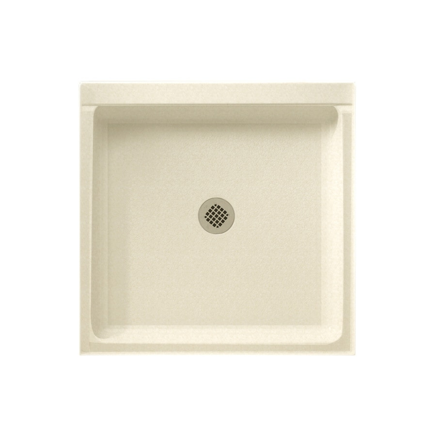 Swanstone Cornflower Solid Surface Shower Base (Common: 42-in W x 36-in L; Actual: 36-in W x 42-in L)