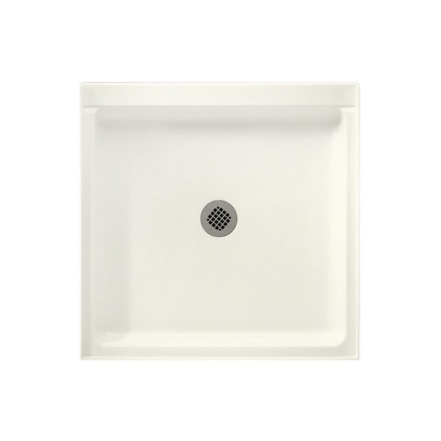 Swanstone Tahiti Ivory Solid Surface Shower Base (Common: 42-in W x 36-in L; Actual: 36-in W x 42-in L)