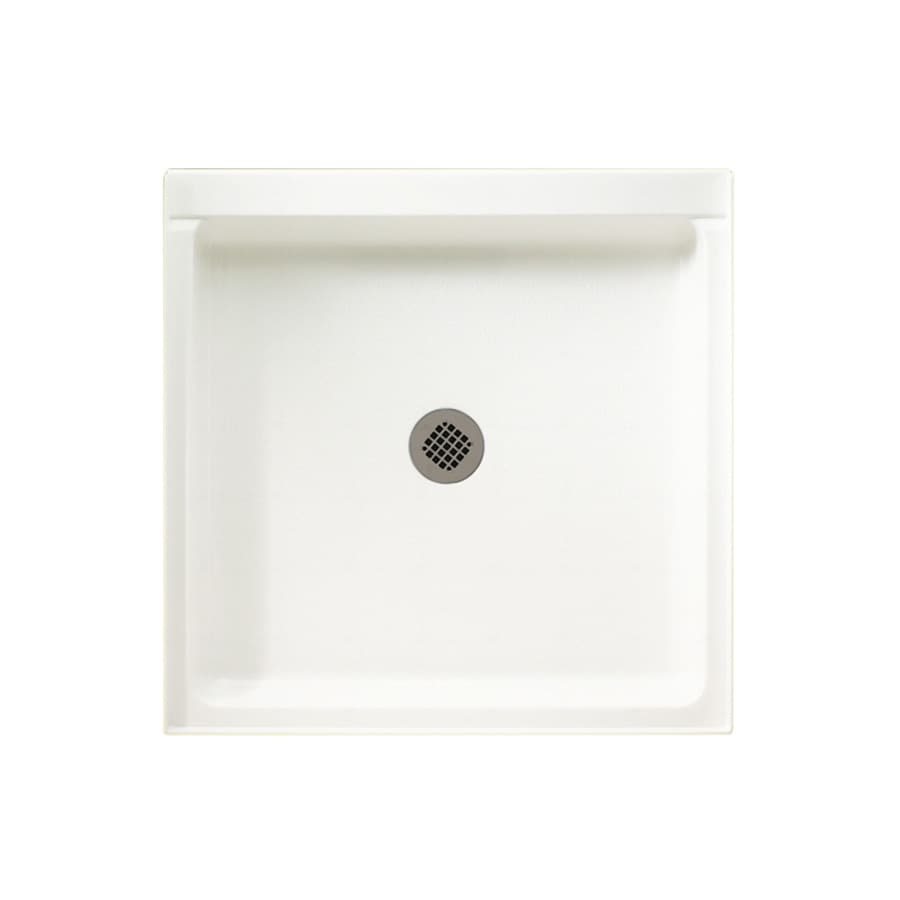 Swanstone Tahiti White Solid Surface Shower Base (Common: 42-in W x 36-in L; Actual: 36-in W x 42-in L)