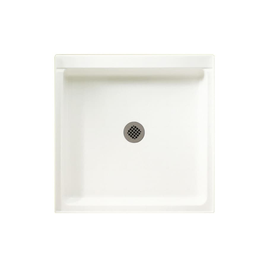 Swanstone Tahiti White Solid Surface Shower Base (Common: 42-in W x 42-in L; Actual: 42-in W x 42-in L)