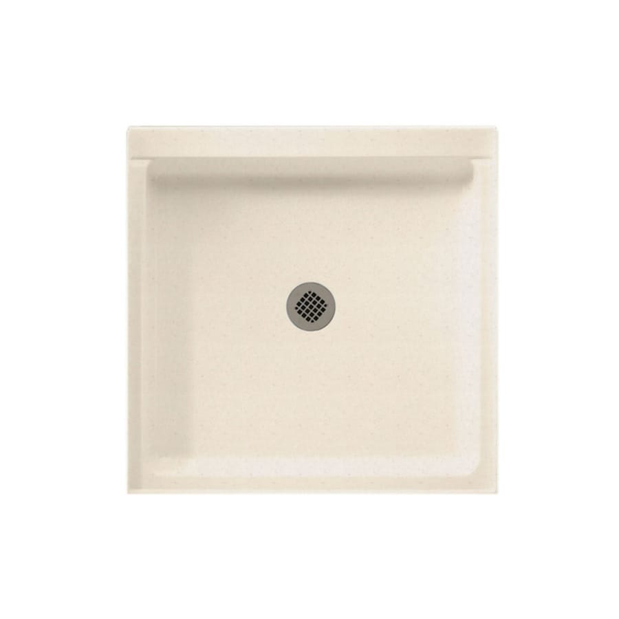Swanstone Tahiti Sand Solid Surface Shower Base (Common: 42-in W x 42-in L; Actual: 42-in W x 42-in L)