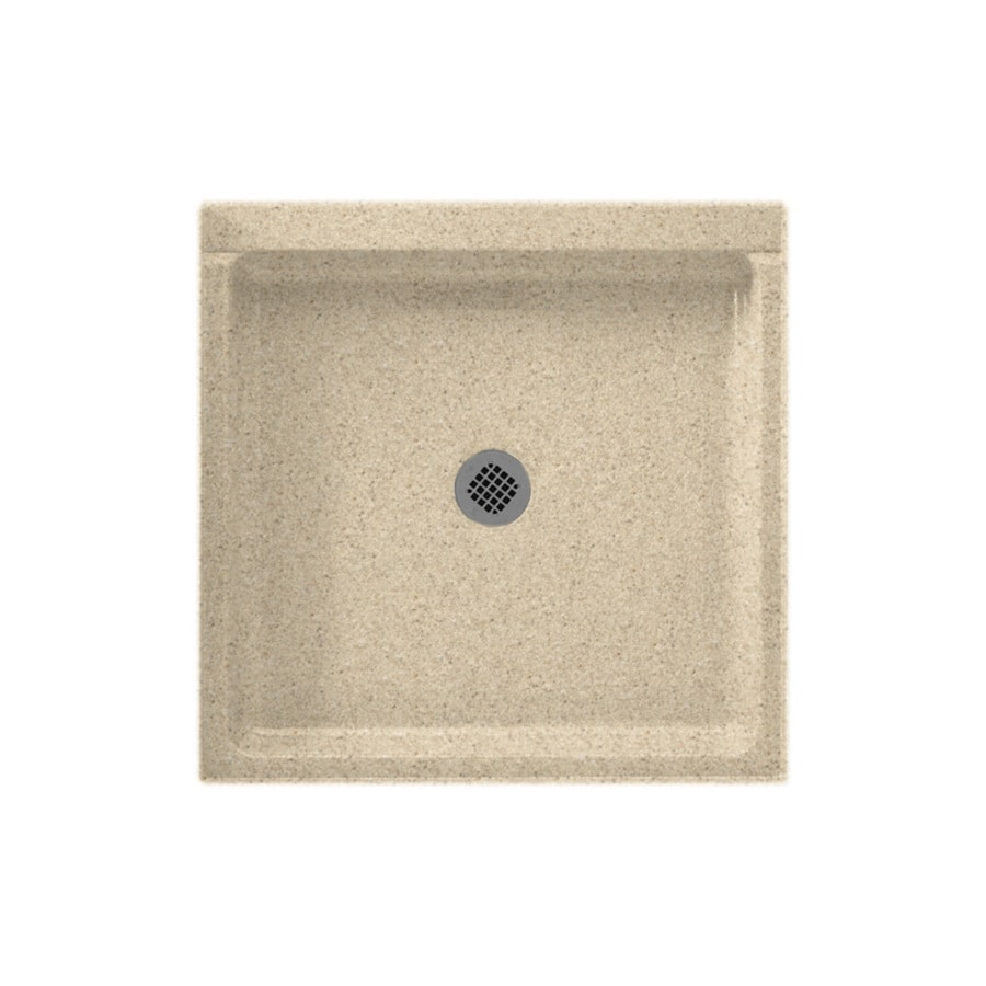 Swanstone Bermuda Sand Solid Surface Shower Base (Common: 42-in W x 42-in L; Actual: 42-in W x 42-in L)