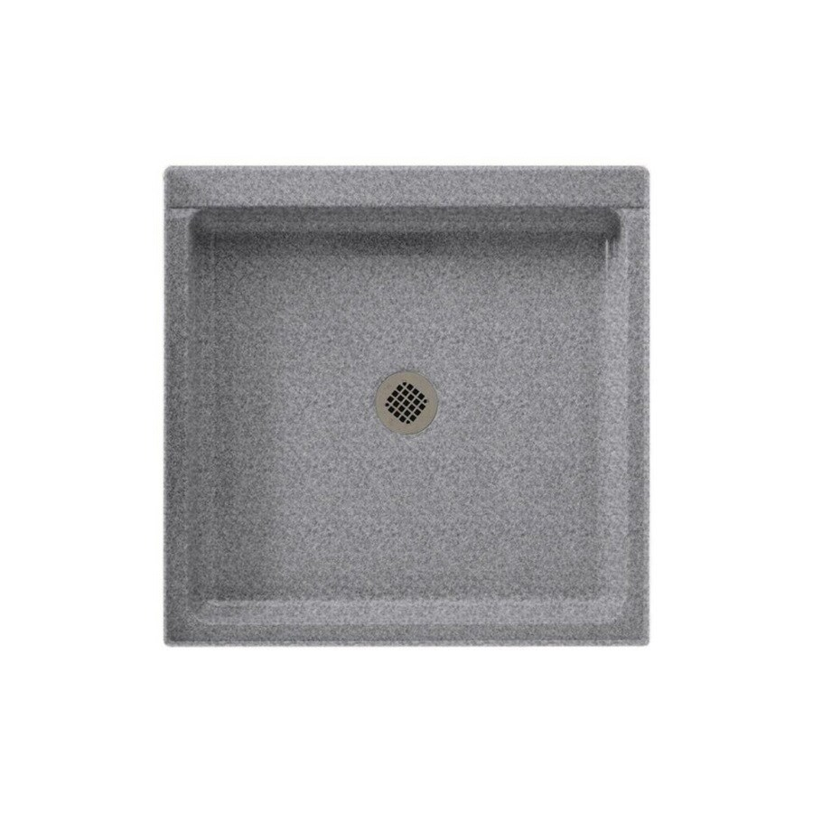 Swanstone Gray Granite Solid Surface Shower Base (Common: 42-in W x 42-in L; Actual: 42-in W x 42-in L)