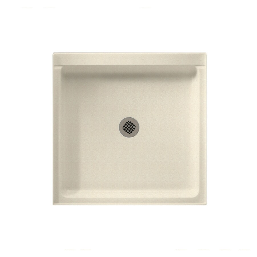 Swanstone Pebble Solid Surface Shower Base (Common: 42-in W x 42-in L; Actual: 42-in W x 42-in L) with Center Drain