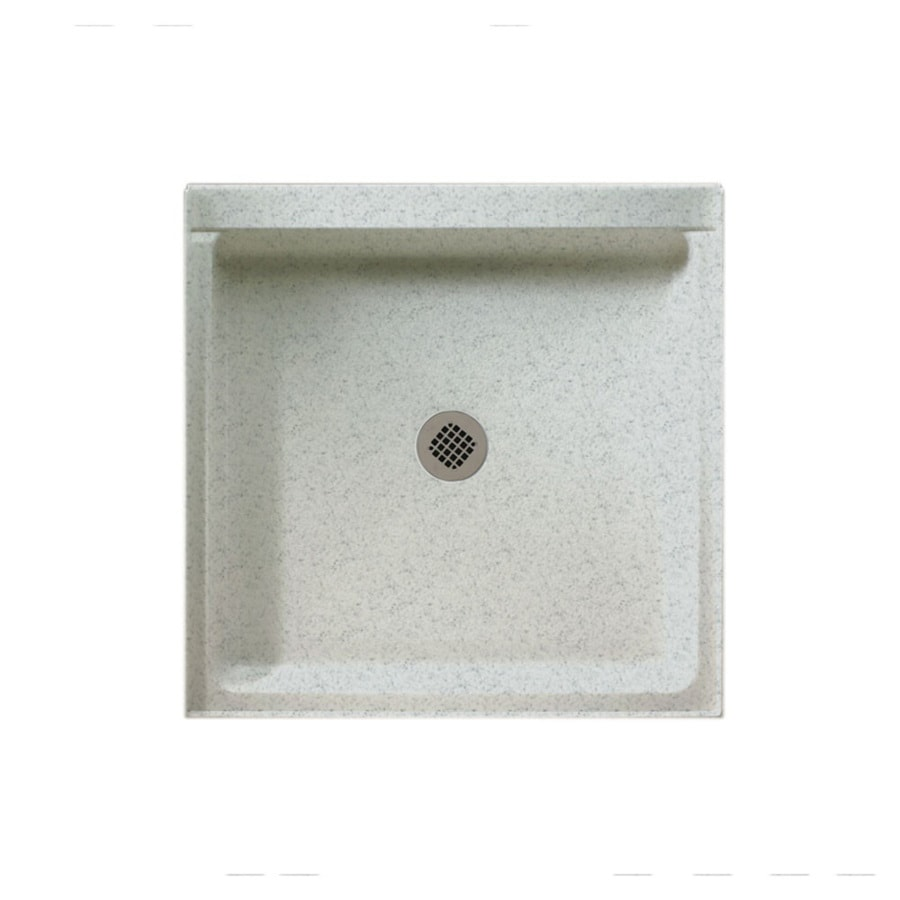 Swanstone Tahiti Gray Solid Surface Shower Base (Common: 42-in W x 42-in L; Actual: 42-in W x 42-in L)