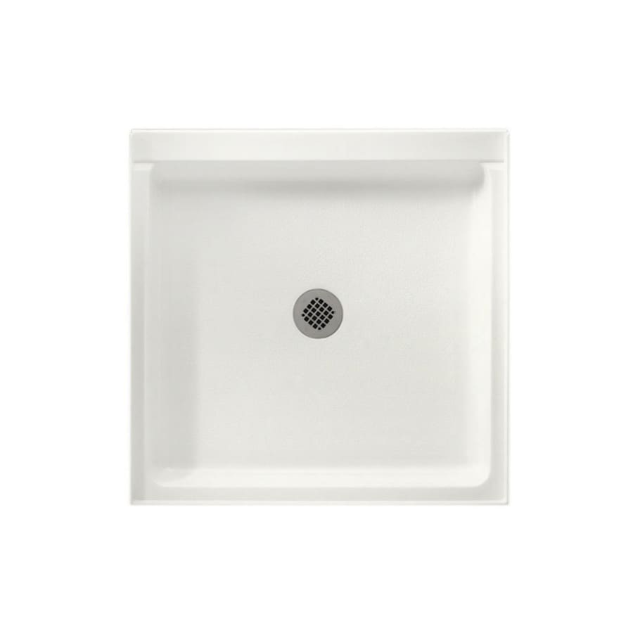 Swanstone Tahiti Ivory Solid Surface Shower Base (Common: 42-in W x 42-in L; Actual: 42-in W x 42-in L)