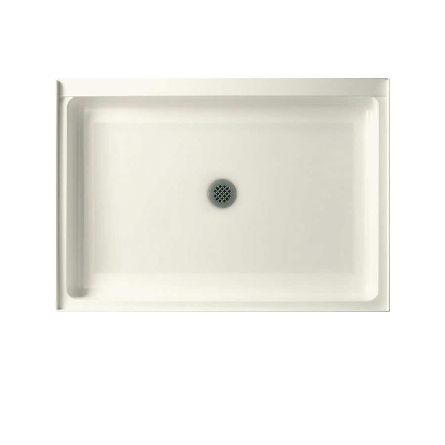 Swanstone Bisque Fiberglass and Plastic Composite Shower Base (Common: 42-in W x 34-in L; Actual: 34-in W x 42-in L)