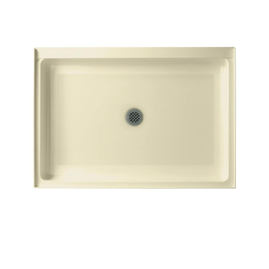 Swanstone Bone Fiberglass and Plastic Composite Shower Base (Common: 42-in W x 34-in L; Actual: 34-in W x 42-in L)