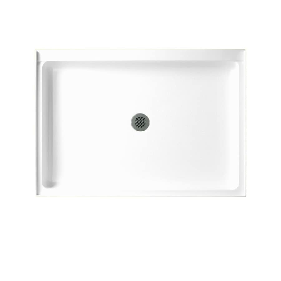Swanstone White Fiberglass and Plastic Composite Shower Base (Common: 34-in W x 48-in L; Actual: 34.1875-in W x 48.375-in L)