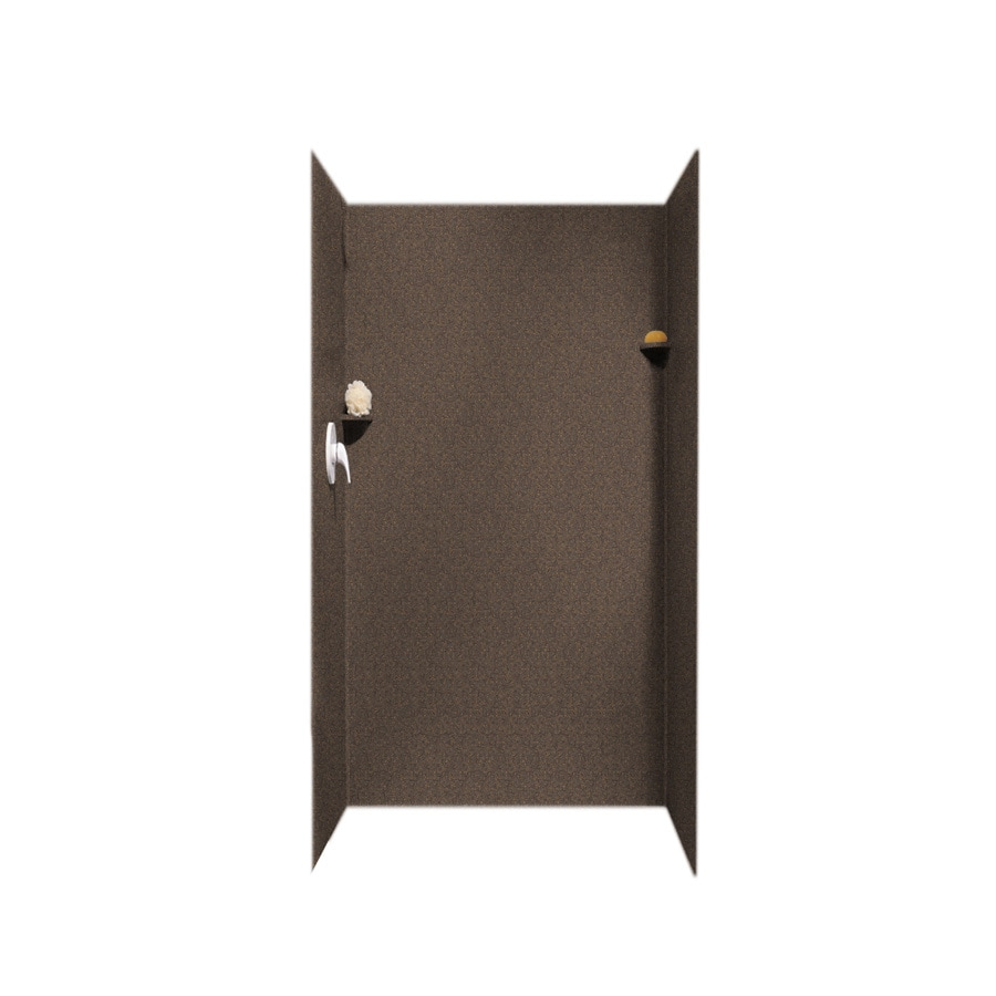 Swanstone Sierra Shower Wall Surround Side And Back Wall Kit (Common: 36-in x 36-in; Actual: 72-in x 36-in x 36-in)
