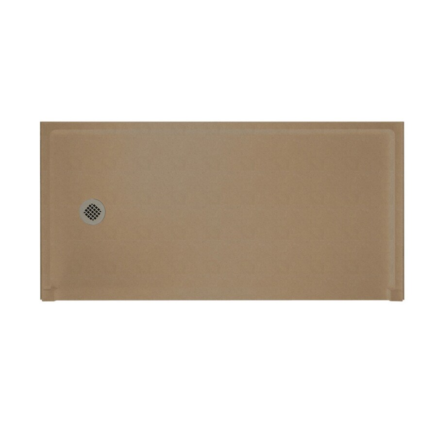Swanstone Barley Solid Surface Shower Base (Common: 30-in W x 60-in L; Actual: 30-in W x 60-in L)