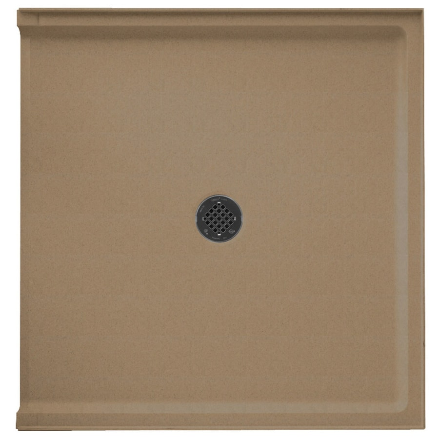 Swanstone Barley Solid Surface Shower Base (Common: 37-in W x 38-in L; Actual: 37-in W x 38-in L)