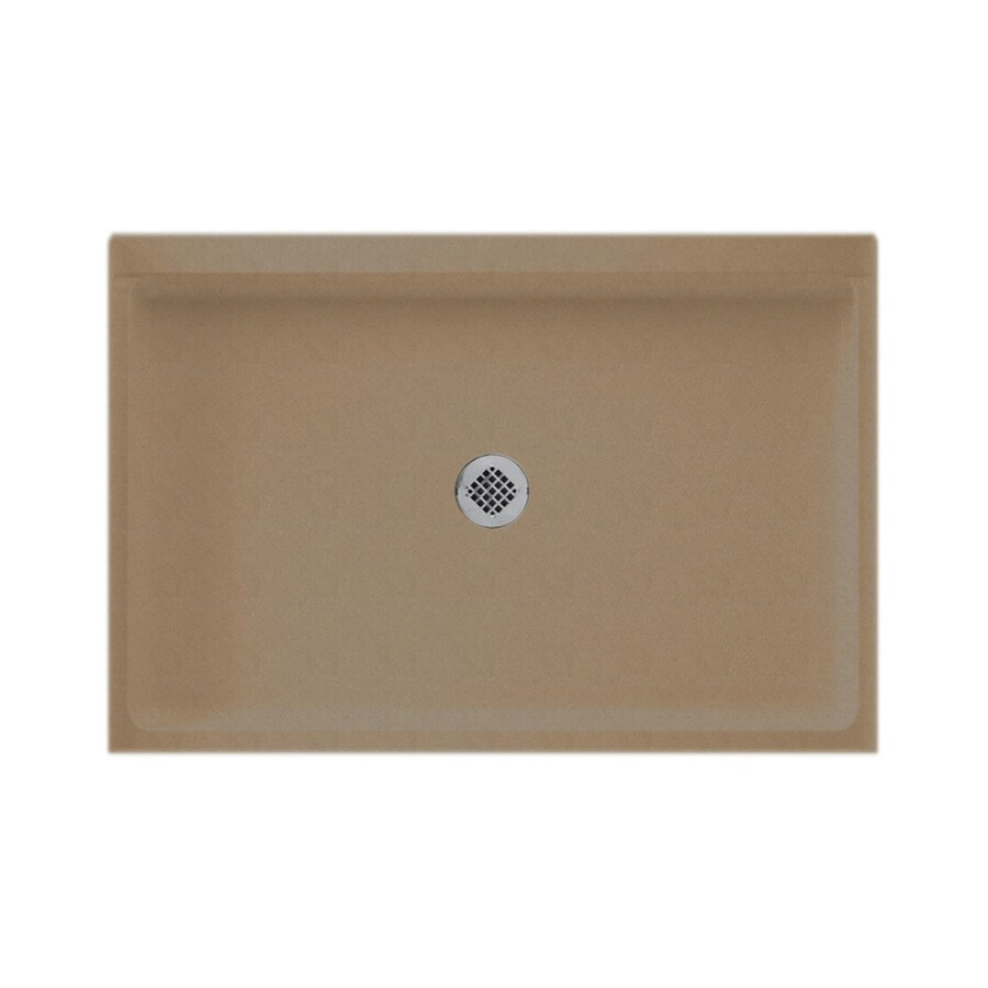 Swanstone Barley Solid Surface Shower Base (Common: 32-in W x 48-in L; Actual: 32-in W x 48-in L)